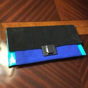 Aldo suede & patent leather clutch/purse